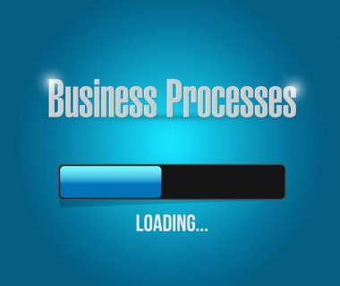 business processes load bar sign concept