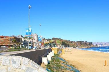 Viña del Mar, Reñaca and Valparaiso - Chile. beach view