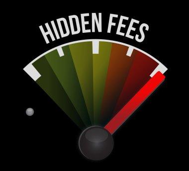 high hidden fees sign concept illustration