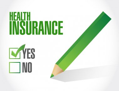 Health Insurance check of approval sign