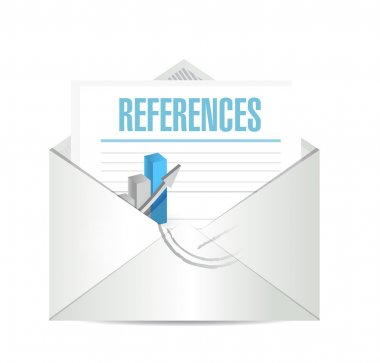 references mail sign concept