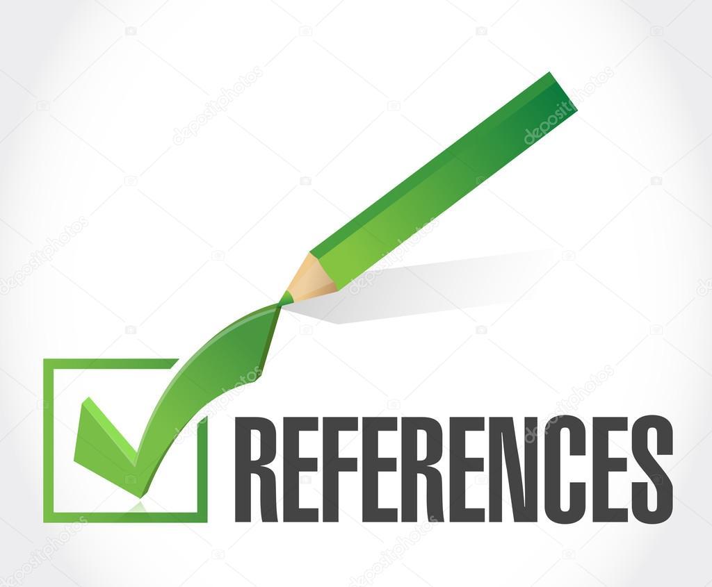 concepto de signo de marca de verificación de referencias — Fotos de ...