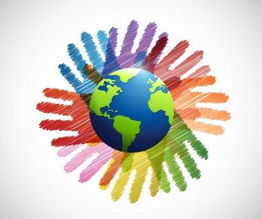 hands international diversity colors