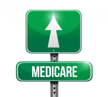 Medicare road sign illustration design