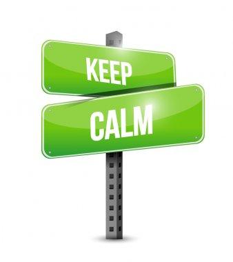 keep calm road sign illustration design
