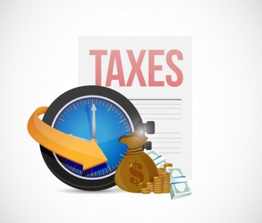 taxes icons concept illustration design