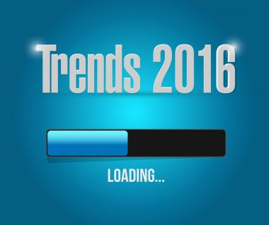 trends 2016 loading bar illustration design