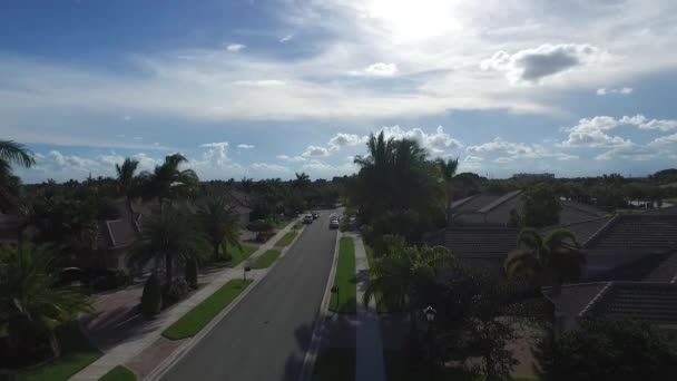 Real estate concept neighborhood. aerial view. Florida