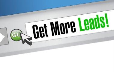 Get More Leads online sign illustration