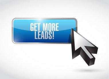 Get More Leads button sign illustration design