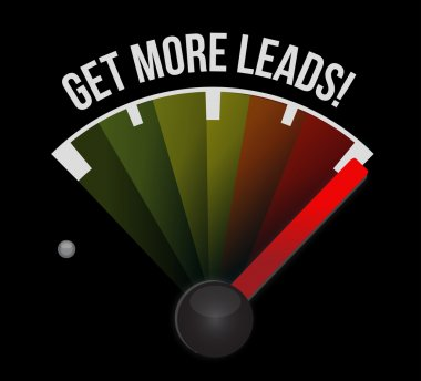 Get More Leads meter sign illustration