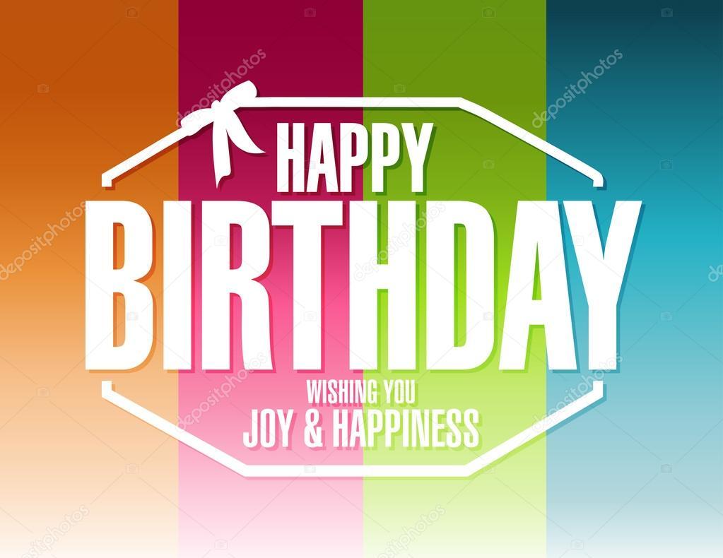 Fondo de líneas de color de feliz cumpleaños — Foto de stock ...