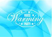 Dům oteplování strany modré pozadí abstraktní znak