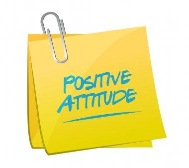 Positive attitude memo post sign concept