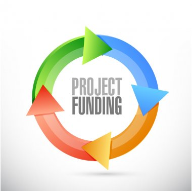 Project Funding color cycle sign concept