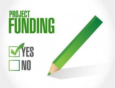 Project Funding approval sign concept