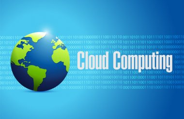 cloud computing globe sign