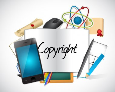 copyright tools and sign illustration