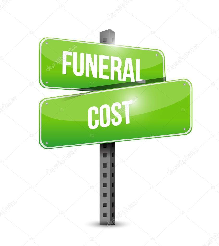 Beerdigung Kosten Straßenschild Abbildung Gestaltung — Stockfoto ...