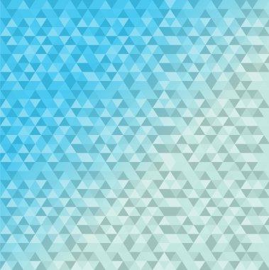 triangle shape pattern blue background