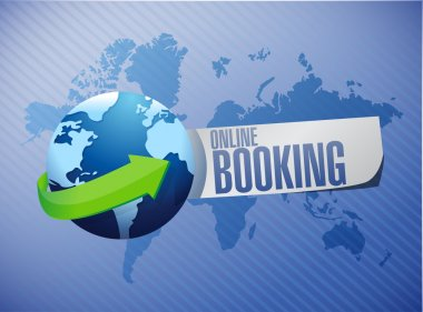 online booking global sign concept