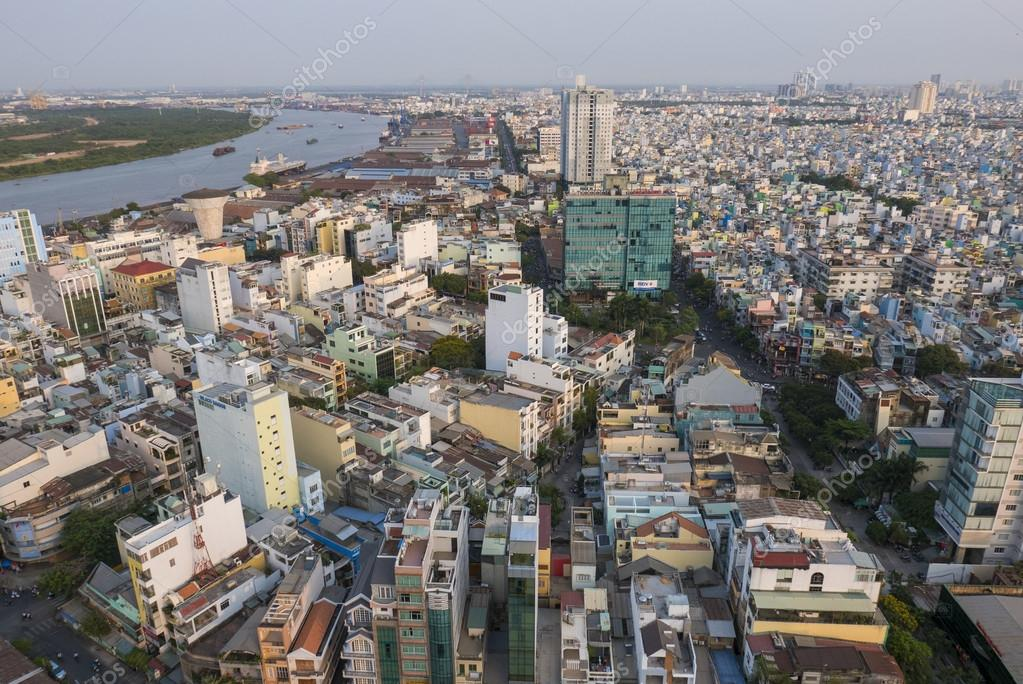 Ho Chi Minh aerial view