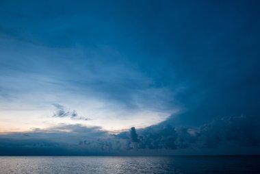 Sunrise and ocean view on paradise Lovina Beach - Bali, Indonesi