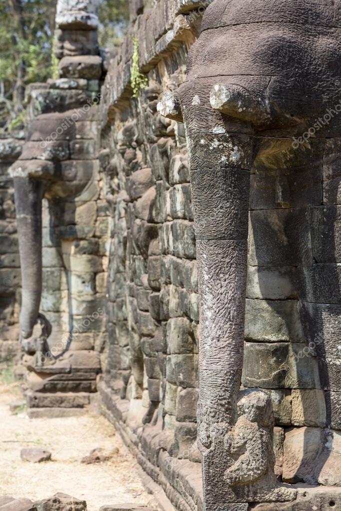 Terraza De Los Elefantes En Angkor Thom Fotos De Stock