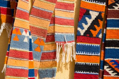 Colorful moroccan rugs on the market
