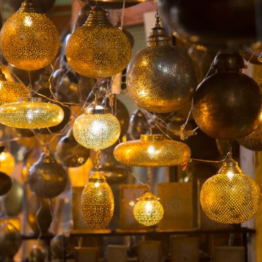 Glass and metal lanterns lamps from Morocco