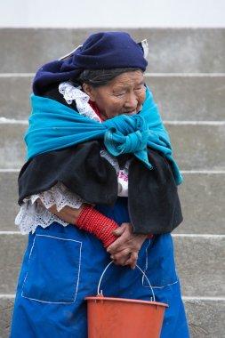 Woman from the Mestizo ethnic group in Otavalo, Ecuador