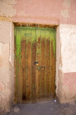 Old colonial wooden door in Potosi State, Bolivia.