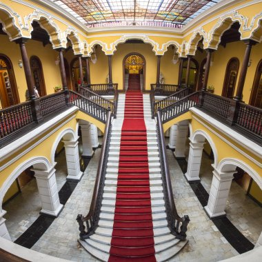Colonial staircase at Archbishop's Palace in Lima, Peru