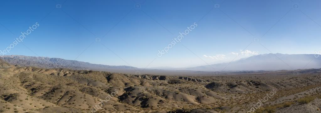 Pampa El Leoncito National Park and clear blue sky, Argentina