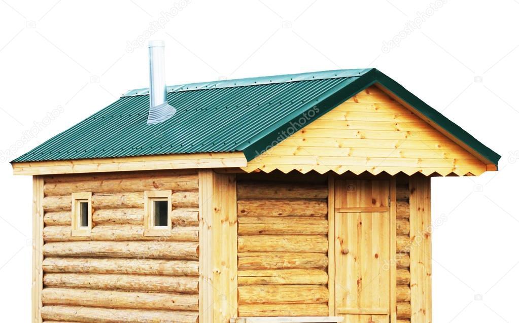 Blockhaus Sauna Aussen Landhaus Oder Finnische Saunen Isoliert