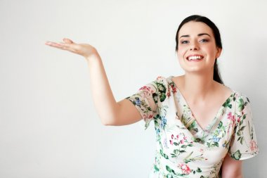 young woman presenting