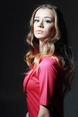 beautiful woman model face