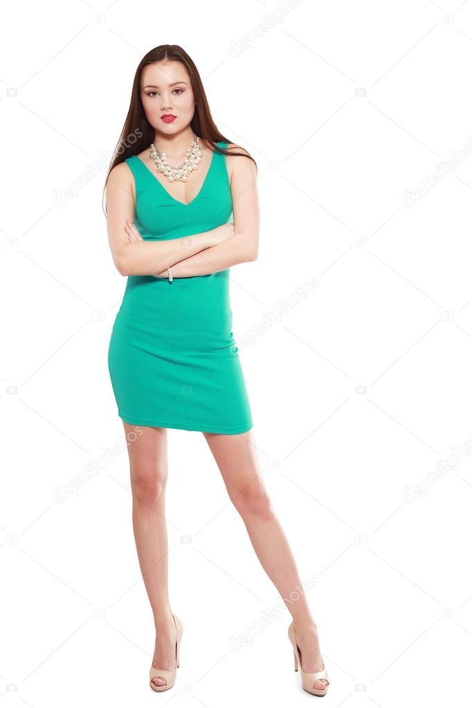f6bfd3aba8b modèle vêtue d une robe verte — Photographie lenanet ©  119691192