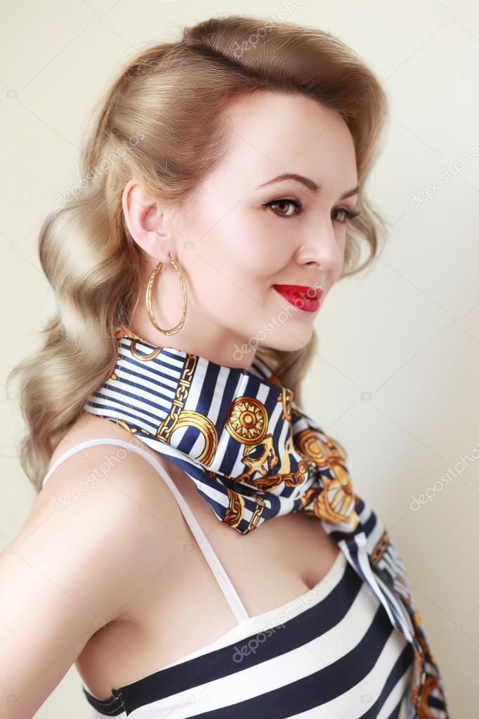 Woman With Retro Hairdo Stock Photo Lenanet 119952872