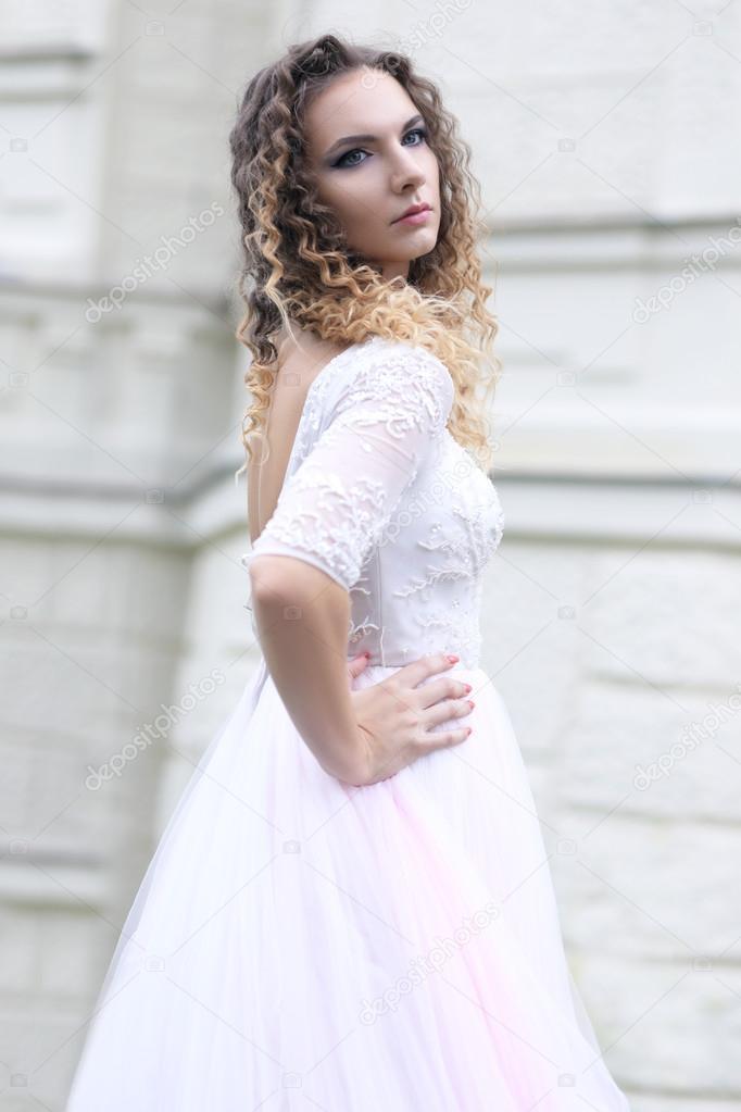 Imágenes Vestidos Color Rosa Pastel Novia Con Vestido