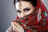 Fotografie indische Schönheit Gesicht