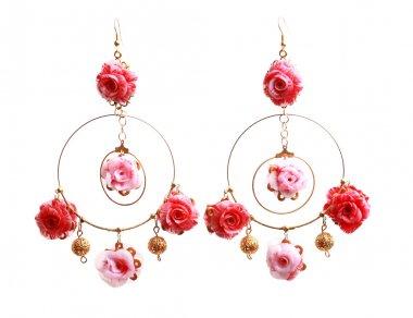 floral rose earrings