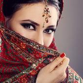indická krása tváře