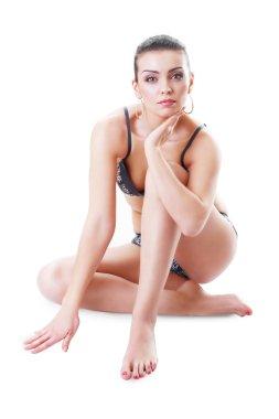 Gorgeous woman in underwear