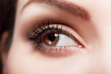 womanish eye with glamorous makeup