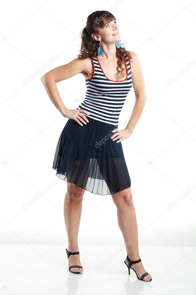 c8a091a9c99f indossa vestiti estivi donna — Foto Stock © lenanet  73903693