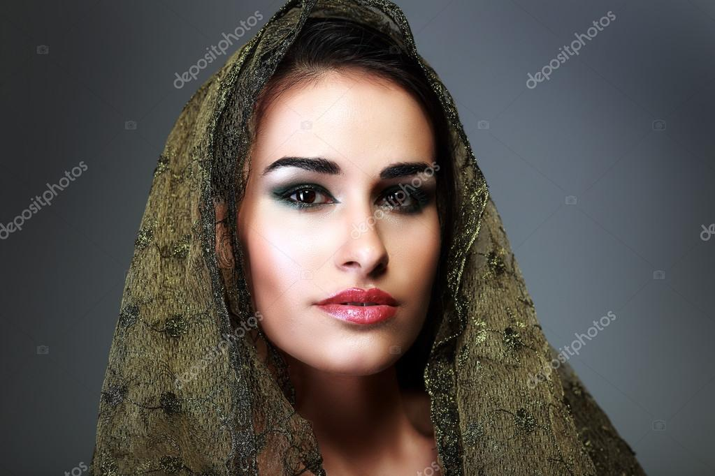 Indian beauty face with make up