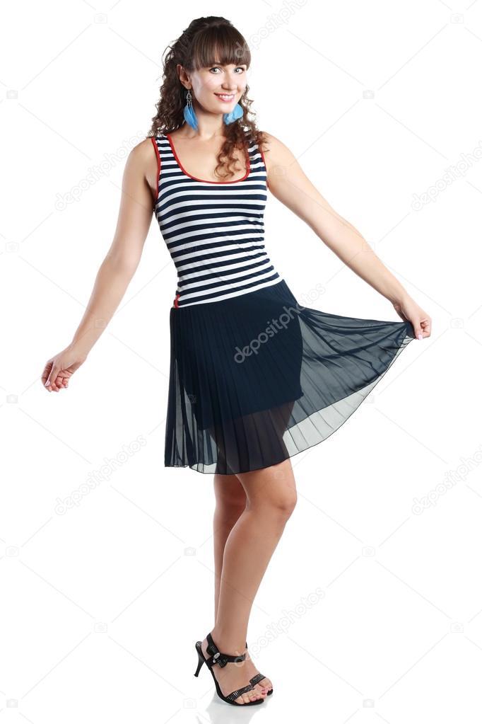 f6fd428b04f4 indossa vestiti estivi donna — Foto Stock © lenanet  73904227