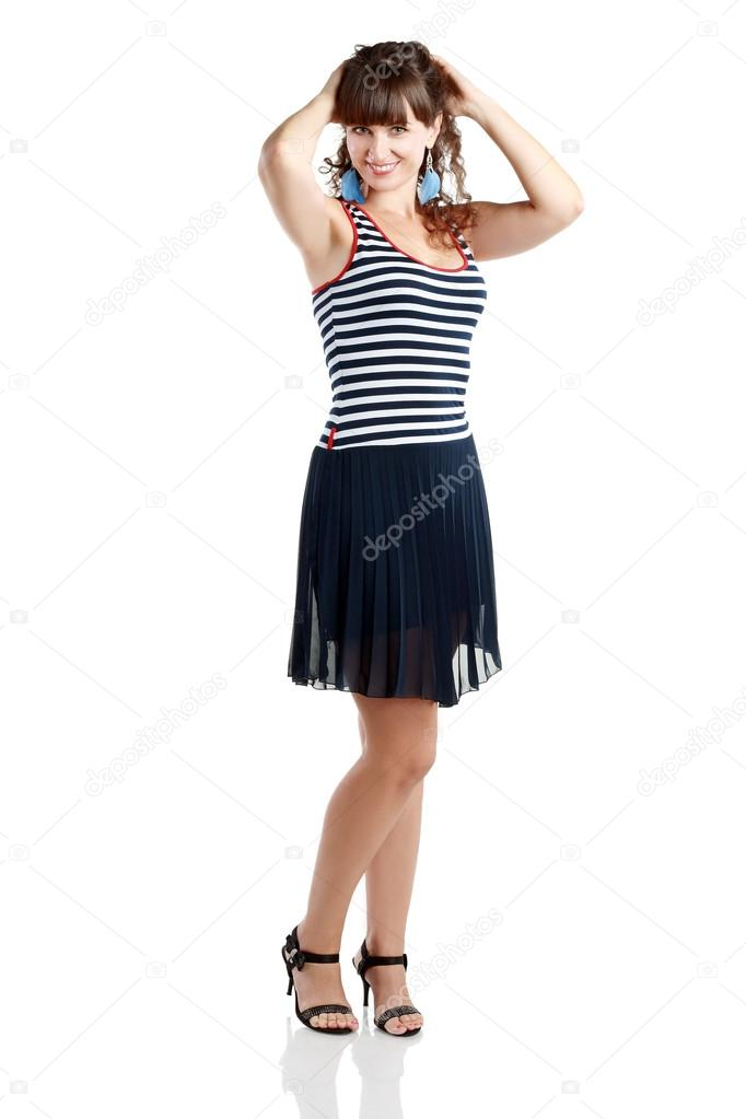 13fbe71bef01 indossa vestiti estivi donna — Foto Stock © lenanet  73905551