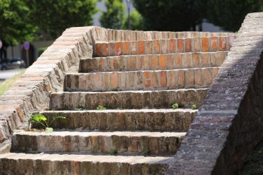 brick steps leading upward